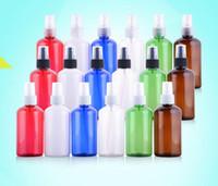 yeşil plastik sprey şişeleri toptan satış-220 ml Boş Plastik Sprey şişesi Kozmetik Ambalaj PET şişeler Kırmızı Beyaz Mavi Yeşil Kahverengi şişe