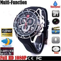 Spy Caméra Full HD 1920 * 1080P Contrôle du son IR Night Vision WristWatch Mini DVR Hidden Recording Montres Mini Caméras Waterproof Design 8G