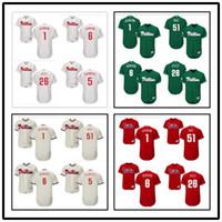 Wholesale Carlos Ruiz Phillies - custom Men's Majestic Philadelphia Phillies 1 Richie Ashburn 6 Ryan Howard 26 Chase Utley 51 Carlos Ruiz many style jerseys
