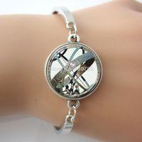 Wholesale Globe Rings - ASTRONOMICAL SUNDIAL Globe, Astronomy Glass Aqua Bracelet Science bangle&bracelet free shipping Hot selling
