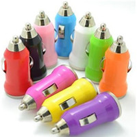 Barato Laranja Da Galáxia S3-Colorful Bala Mini USB Car Charger 5V Universal adaptadores para o iPhone 4 4s 5s 5 6 Plus Samsung Galaxy S3 S4 Sony HTC Celular MP3 MP4