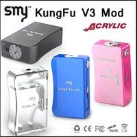 ingrosso legno vs-Smy Kungfu Box V3 Mod aggiornamento Kungfu Box Mod mod box acrilico in forma 2X18650 Batteria 510 Thread vs ABS Tesla Invader Phimis Wood mod