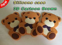 Wholesale Teddy Bear 3d Animal Case - 3D Bear Teddy Soft Silicone GEL Case Rilakkuma Lovely Cartoon Animal Rubber For Ipod Touch 5 6 Touch6 Iphone 5 5G 5S 5th skin Cover Luxury