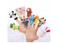 Wholesale Baby Finger puppets Baby Learning Education Toys Baby Plush Toys Finger Toys Talking Props animals group