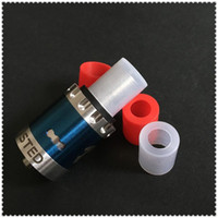 Wholesale Ecigs Test Tips - Ecigs Silicone Test Caps Wide bore Disposable Drip Tip Cover Clear & Red Rubber Mouthpiece Tester For Atlantis Arctic Subtank RDA atomizer