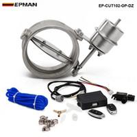 controlador abierto al por mayor-nueva H G 102 mm Válvula de corte de escape de vacío OPEN con control remoto inalámbrico de alta calidad EP-CUT102-OP-DZ