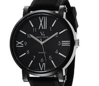 reloj de entrega al por mayor-numerales nueva V6Casual cuarzo relojes de los hombres FashionRoman graduación Reloj de pulsera de silicona Dropship horas reloj de moda del reloj del vestido NAVIDAD GIFT