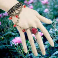 Wholesale Trendy Antique Ring - Fashion retro style girll Bracelet Wedding Jewelry Wrist Chain Bangles rings Elbow Accessories for Prom Girls Evening Party Dresses HC04