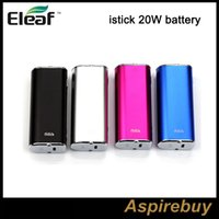 Ismoka Eleaf iStick 20W 2200mah Batterie VV VW Mod box Variable Voltage Wattage Device Avec OLED Screen ego 510 Thread Pack simple