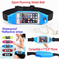 Wholesale Touch Phone Leather Case - Universal Sports Waterproof Phone Pockets Waist Belt Armband Bag Cases Pouch With Clear View Touch For iPhone 5s 6Plus Galaxy s5 S6 Edge