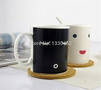 Wholesale Magic Cup Heat - 24pcs lot Morning Cup Heat Color Change Mug Magic heat sensitive color changing morning Mug Ceramic Cups