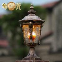 Wholesale Lotus Headlight - Wholesale-Continental Outdoor wall lamp post headlights garden lights garden wall lamp post lights light lotus,free shipping W11815