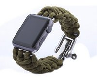 For Apple blue cord bracelet - Hot Parachute Cord Line Watch Band For Apple Watch Band Smart iWatch Strap Watchband Outdoor Sports Bracelet Bands With Adapters MM