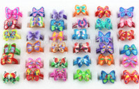 Wholesale Butterfly Fimo - Wholesale Lots 50 PCS Lovely Children Rings Baby Girl Butterfly Polymer clay Rings Fimo Children Jewelry MR15