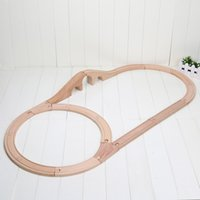 Wholesale 17pcs set New Wooden Train Track Compatible with All Major Brands including Wooden Railway System By Right Track Toys