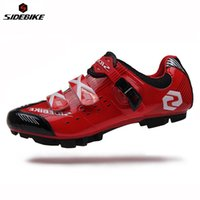 Wholesale Blue Mountain Bike Shoes - Wholesale-SIDEBIKE Professional Lightweight Outdoor Sports Athlete Shoes Bicycle Cycling MTB Shoes Mountain Bike Racing Self-Locking Shoes