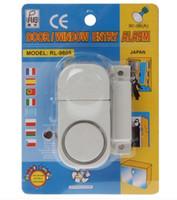 kapı alarmı ücretsiz gönderim toptan satış-RL-9805 Özel Kablosuz Kapı Pencere Sensörü Manyetik Anahtarı Ev Güvenlik Alarm Bell Hırsız Uyarı Güvenlik Sistemi Ücretsiz Kargo