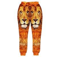 Wholesale Tiger Drop Crotch Pants - COOL Brand Rock Punk Animal Lions Tigers 3D Print Women Mens Joggers Pants 2015 Sweatpants Sports Plus Size Casual Drop Crotch