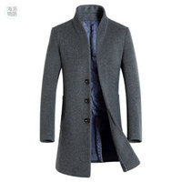homens casacos de lã para o inverno venda por atacado-Xangai História mens longo trench coat casaco de lã moda fivela de lã casaco business mens inverno 5 cor