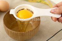 separadores de plastico al por mayor-1000 unids / lote Divisor de Separador de Huevo de Yema de huevo de Plástico Blanco Herramienta de Cocina de Cocina Tamizar Filtro de Gadget