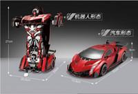 Wholesale Toy Car Keys Remote - Best Christmas gift ! Remote control deformation of a key change toys 4 big car robot boy toy car model