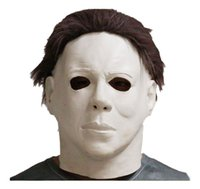 Wholesale Horror Film Face Masks - Michael Myers Style Halloween Horror Mask Latex Fancy Party Horror Movie free shipping