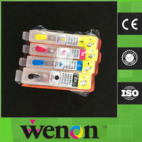 Wholesale 4 color high quality refill ink cartridge for HP with chip ink cartridge refill kit