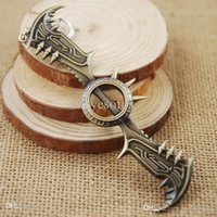 Wholesale League Legends Axe - Wholesale-1PCS League Of Legends Game LOL Draven Glory Execution Officer Weapon Axe Metal Pendant Key Ring Keychain No.655