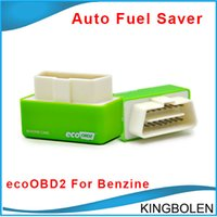 Wholesale chipping ecu tools - New Plug and Drive EcoOBD2 Economy Chip Tuning Box for Benzine Fuel Save Less Fuel and Less Emission auto fuel saver tool