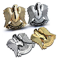 Wholesale Eagle Emblem Metal - Full Metal Eagle Totem 3D Car Exterior Badges Emblems Universal Flying Birds Chrome Metal Car Fender and Grille Decals and Stickers 1705