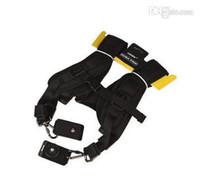 dslr askı kayışları toptan satış-Toptan Satış - Tüm SLR DSLR 2 Kamera Lens Dürbün için Ayarlanabilir Naylon Çift Çift Sling Omuz Boyun Askısı Kemer