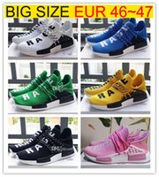 Wholesale Big Size Shoes Cheap - Big Size Cheap NMD runner R1 boost high quality human race running shoes NMDs Runner Pk Ultra Boost sneaker sports running shoes size 36-47