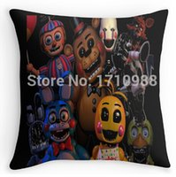 Wholesale 24x24 Pillow Black - Wholesale-Free shipping FNAF 2 animatronics (two sides) Free shipping Throw Pillow Cases for 12x12 14x14 16x16 18x18 20x20 24x24 inch