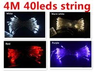 Wholesale Colour Flash - Led string 4M 40 Lights flash light Christmas party Fairy wedding lamps party decoration lighting 9 colours holiday lighting 4 meter