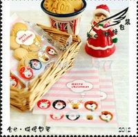 Wholesale Self Adhesive Packing Bag - ZFD5 (11+3)X10CM White Merry Christmas Self Adhesive Seal Bag Packing Bag