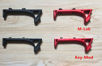 NEW Hand Stop Link Curved Foregrip Tactican CNC impugnatura in alluminio per M-Lok KEY-MOD foro Rail HandGuard Airsoft Huntingh Paintball Game