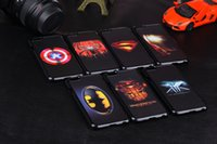 Wholesale Iphone5 Case Super - For iphone 6 6 plus cases Super hero cell phone cases 7 styles spider-man superman Captain America phone cases for iphone5 5S