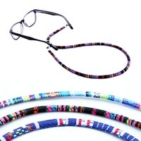 Wholesale lanyard loop - Retro South American style Adjustable silicone loops Eyeglasses Sunglasses reading glass cords chains Holder Lanyard neck Strap