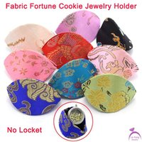 Wholesale Charms For Origami Owl - Wholesale-Fashion Origami Owl Silk Fabric Cookie Jewelry Holder Display Case For Glass Floating Charms Lockets