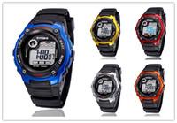 Wholesale Children Analog Wrist Watch - Promotion Wrist Watch Men Sports LED Digital Watch Children Kid Watches Mix 5 Colors Free Drop Shipping