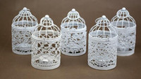 Wholesale Metal Bird Cages - New Arrive Bird Cage Decoration Candle Holders Bird Cage Wedding Candlestick