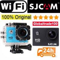 полный hd видеокамеры cmos оптовых-100% оригинал SJCAM SJ4000 плюс камеры Wifi 2K Full HD 1080P видеокамеры камеры дайвинг 30 м водонепроницаемый мини спорт действий Cam