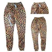 Wholesale Drawstring Leopard - Alisister new fashion leopard men women's joggers pants 3D print aniaml pant Autumn winter jogging sweatpants hip hop trousers