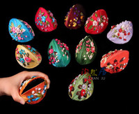 Wholesale Free Ribbon Crafts - Portable Handmade Ribbon Embroidery Craft Small Jewellery Packaging Rings Storage Boxes Silk brocade Craft Case 10pcs lot Mix Color Free