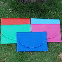 Wholesale wholesale red clutches online - Blanks Soft PU Pouch Clutch Envelope Wallet Holder Evening Handbag in colors via FedEx DOM106176