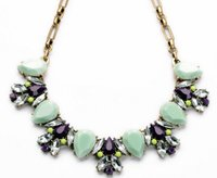 Wholesale Trend For Chain Jewelry - New 2015 Hot Pendant Necklace Women Jewelry Trends Link Chain Statement Necklaces Colar Water Drop Pendants For Gift Party