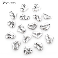 Wholesale Love Floating Charm - Metal Vintage Heart Floating Charm for Glass Locket (VA-166) Vocheng Jewelry