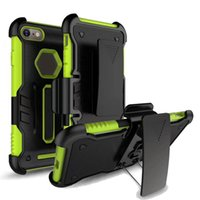 Wholesale Holster Clip Metal - Hybrid Holster Phone Case For Iphone X 8 Plus Samsung Note 8 With Belt Clip Kickstand Protective Armor Back Cover OPP Bag