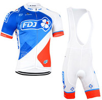 Wholesale Short Sleeve Bike Jersey Woman - 2015 FDJ Cycling Jersey Cycling Shorts Set Short Sleeve For Men  Women Maillot Ciclismo Sport Bike Clothing