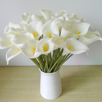 Wholesale White Calla Lily Artificial Flowers - DES FLORAL Decorative flower Artificial Mini Calla Lily Bouquet For Wedding Decoration Artifical Flowers Calla lily bouquet for wedding